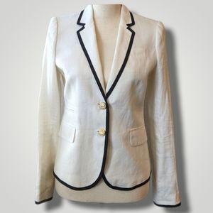 J. Crew Schoolboy Ivory Linen Jacket Sz2